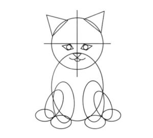 Learn how to draw a cat step by step easy drawing tutorials
