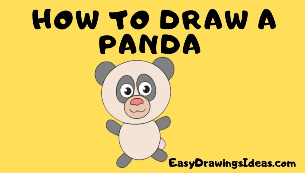 how to draw a panda step by step for kids - Easy drawing Ideas