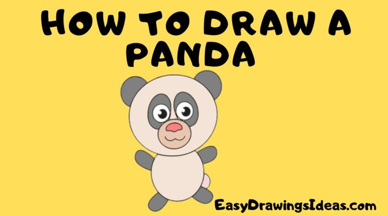 learn how to draw a panda step by step for kids - Easy drawing Ideas