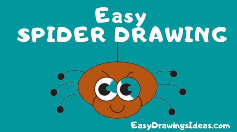 Learn how to draw a spider step by step for kids
