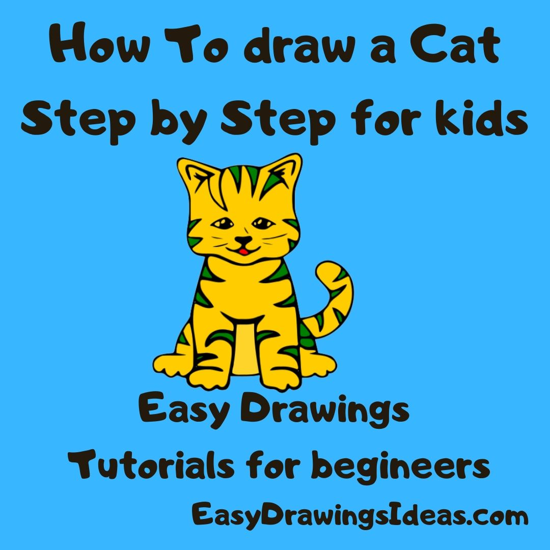 How to draw a cat step by step easy drawing