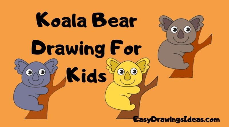 how to draw a koala for kids step by step