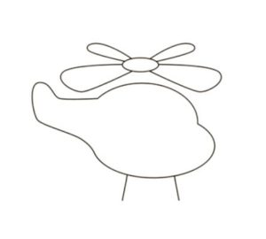 learn how to draw a helicopter for kids.