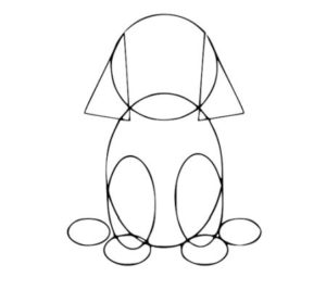 how to draw a dog step by step for kids in simple and easy way