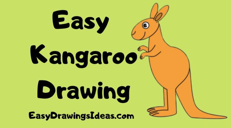 how to draw a kangaroo step by step