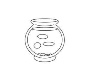 Learn How to draw Fish bowl easy step by step