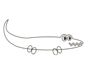 Learn How to draw alligator step by step