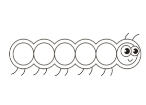 Learn how to draw caterpillar drawing step by step