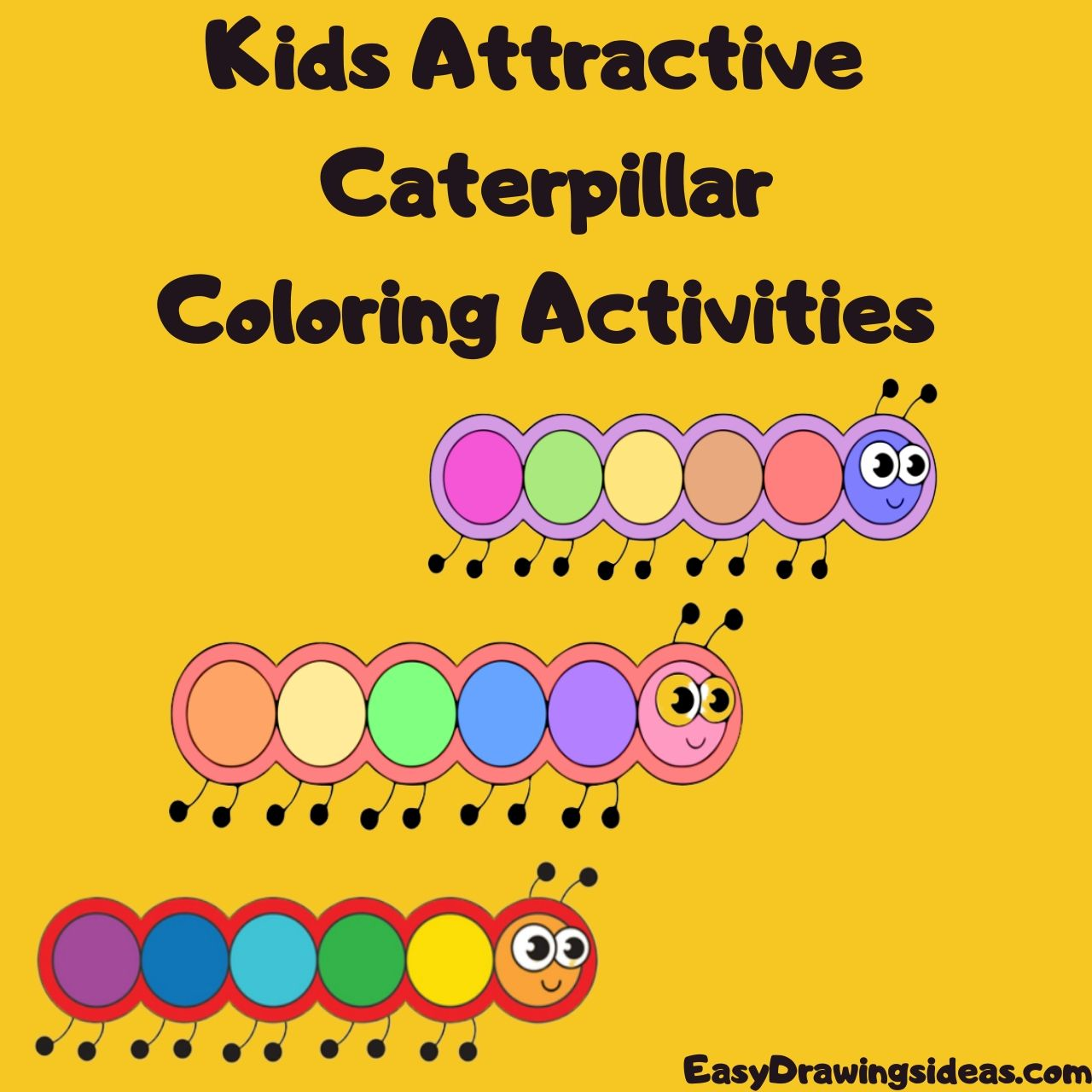 Kids Attractive caterpillar Coloring Activities FOR KIDS STEP BY STEP