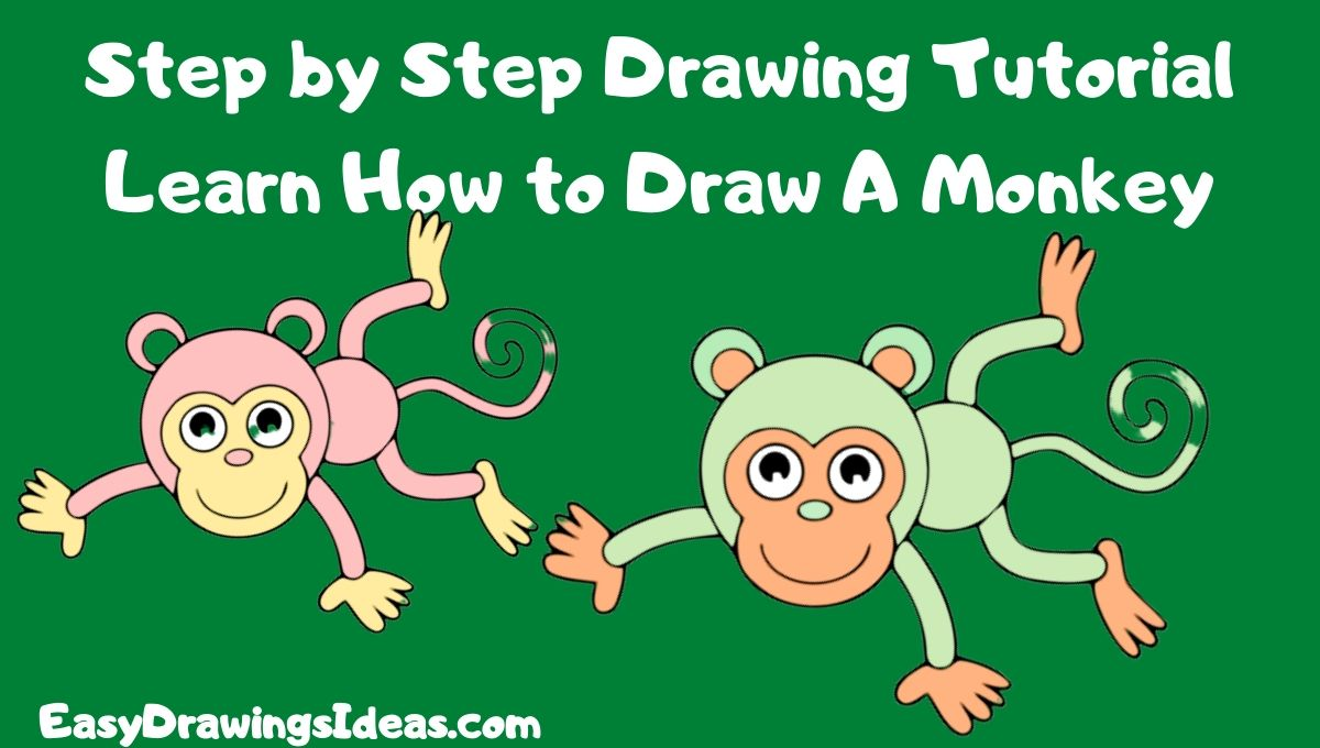 Step by Step Drawing Tutorial Learn How to Draw A monkey for kids