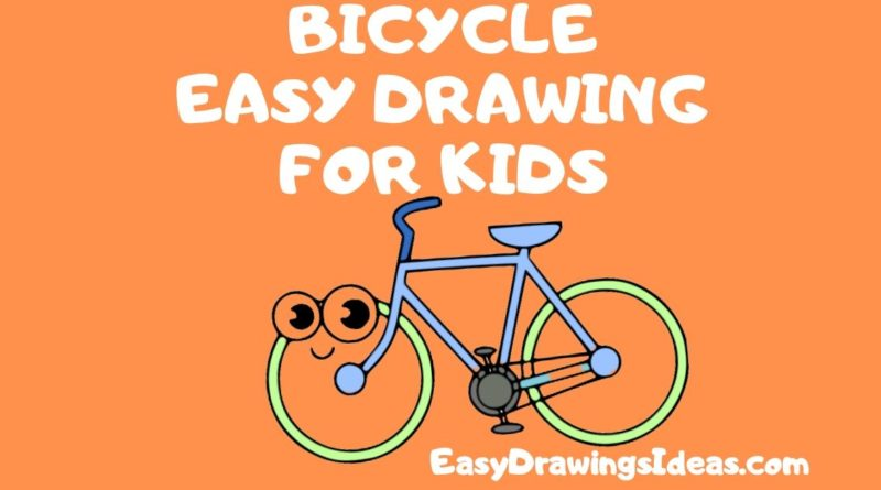Step by Step easy bicycle drawing for kids