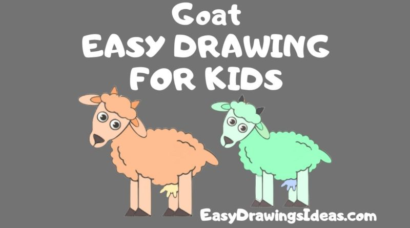 Step by Step easy goat drawing for kids