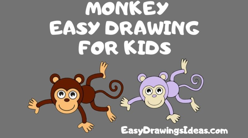 Step by Step easy monkey drawing for kids