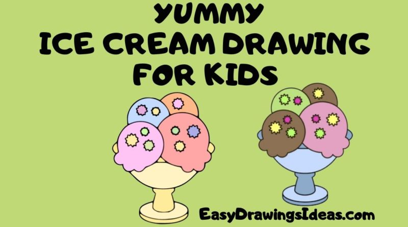 Step by Step yummy ice cream drawing for kids (1)