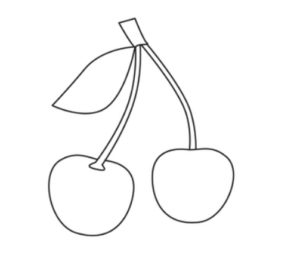 Learn how to draw cherry step by step for kids
